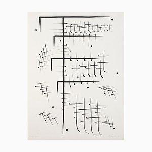 Buchstabe T - Original Lithographie von Raphael Alberti - 1972 1972
