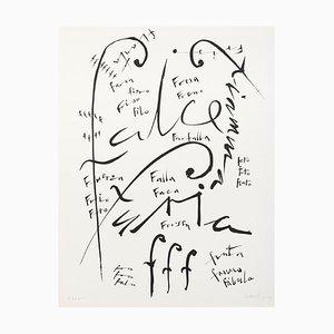 Letra F - Litografía original de Raphael Alberti - 1972 1972