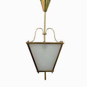 Lámpara de techo francesa Art Déco, años 40