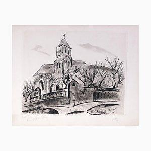 Church View - Original Radierung von R. Naly - 1967 1967