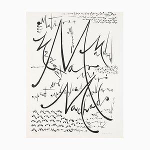 Buchstabe M - Original Lithographie von Raphael Alberti - 1972 1972