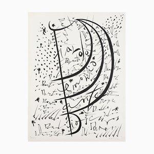 Letter D - Original Lithograph by Raphael Alberti - 1972 1972