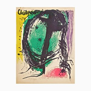 Face - Original Lithograph by J. Cristoforou - 1964 1964