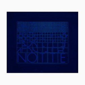 Notte (Night) - Original Screen Print by Bruno di Bello - 1980 ca. 1980 ca.