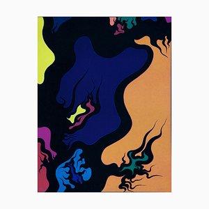 Purple Hell - Original Lithographie von Luigi Boille - 1971 1971