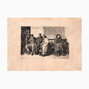 Leaving Home - Original Radierung von E. Ramus After Franch Holl - 1878 1878