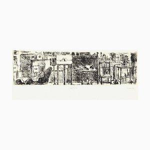 The Artist's Studio - Original Etching by Renzo Biasion - 1960s 1960s