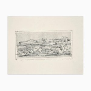 Landscape - Original Etching by Fiorella Diamantini - 1962 1962