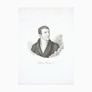 Antonio Canova - Original Etching by G.E. Morghen - Late 18th Century Late 18th Century