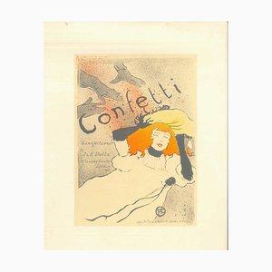 Confetti - Original Litho After H. de Toulouse-Lautrec 1951