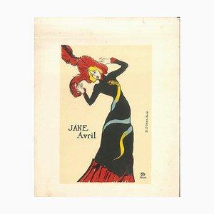 Jane Avril - Original Litho Nach H. de Toulouse-Lautrec 1951