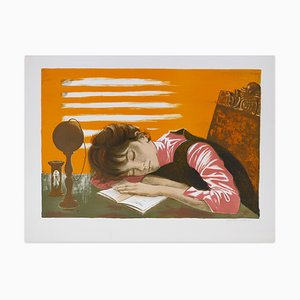 Lecture II - Original Lithograph on paper by J.P. Alaux - 1960/70 1960/70