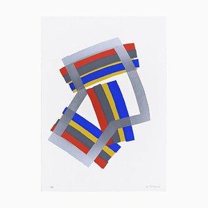 Silver Composition - Original Screen Print by Luigi Montanarini - 1970s 1970s