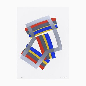 Silver Composition - Original Siebdruck von Luigi Montanarini - 1970er 1970er