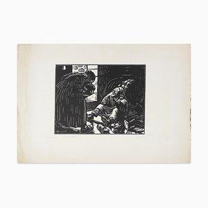 Le Vieux Buvassier - Original Woodcut Print by H. Broutelle - 1923 1923