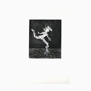 L'Homme Figé - Original B/W Etching by G. Arnulf - 1973 1973