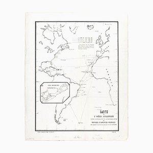 Carte de l'Ocean Atlantique - von FA de Varnhagen - 1865 1865