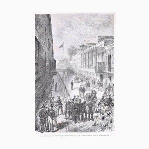 La rue Saint-Louis - Original Holzschnitt von Bertrand, After Valnay - 1880 1880