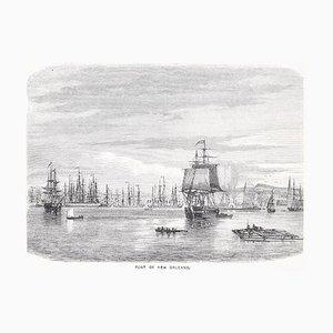 Port of New Orleans - Original Woodcut Print - 1870 1870