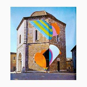 Volterra 1973 - Photolithographie Originale Vintage d'après Shu Takahashi - 1973 1973