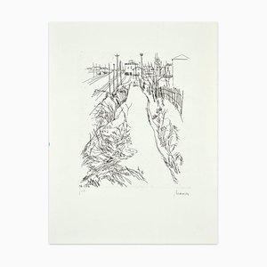 Gravure à l'Eau-Forte Vintage par Renzo Biasion - 20ème Siècle, 1950s