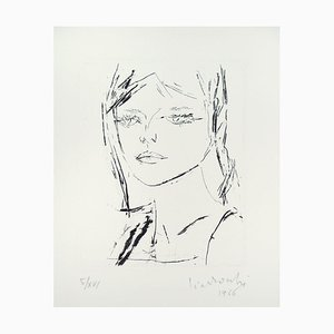 Anna's Portrait - Original Etching by by A. Ciarrocchi - 1966 1966