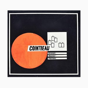 Cointreau - Original Mixed Media by A. Matheos - Mid 20th Century Mid 20th Century
