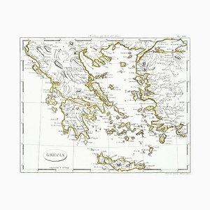 Karte von Griechenland - Radierung auf Papier 19. Jahrhundert 19. Jahrhundert