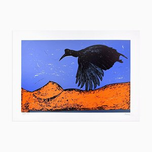 Lithographie Originale Black Bird par Nino Terziari - 1970s 1970s