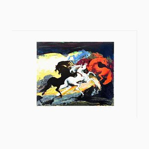 Carousel Of Three Horses - Original Siebdruck von Gianni Testa - 1986 1986