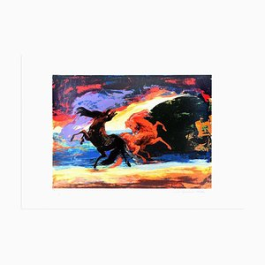 Horse Carousel - Original Screen Print by Gianni Testa - 1986 1986