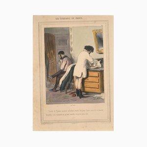 Les Étudians de Paris - Original Lithograph by Paul Gavarni - 1847 1847