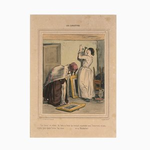 Les Lorettes - Original Lithographie von Paul Gavarni - 1841 1847