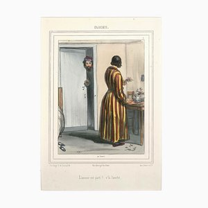 Clichy - Original Lithographie von Paul Gavarni - Erste Hälfte von 1800 Erste Hälfte des 19. Jahrhunderts