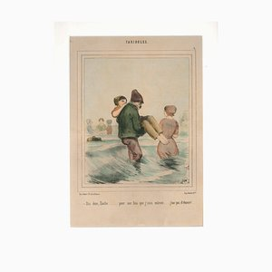 Fariboles - Original Lithograph by Unknown French Artist - 1800 19th Century