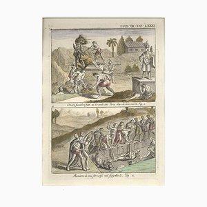Begräbnis Ehrungen und Beerdigung der peruanischen Anführer - von G. Pivati - 1746-1751 1746-1751