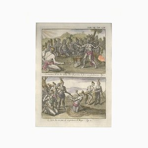 Ceremonies of a Floridian King - Etching by G. Pivati - 1746-1751 1746-1751