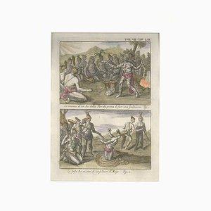 Zeremonien eines Floridian King - Radierung von G. Pivati - 1746-1751 1746-1751