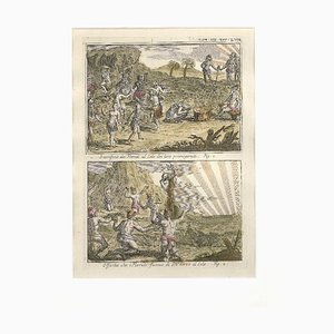 Offers and Sacrifices to the Sun among the Floridians - by G. Pivati - 1746-1751 1746-1751
