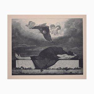 Pity - Original Holzschnitt von JJ Weber - 1898 1898