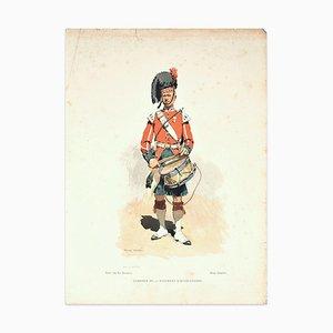 Tambour du 42 ° Regiment D'Highlanders - Lithografie Ende 19. Jh. Ende 19. Jh