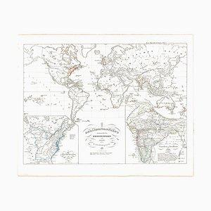 Mapa del Imperio Británico antiguo - Mapa antiguo de Karl Spruner - 1760 ca. 1760 ca.