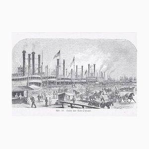 New Orleans - Original Woodcut - 1890 1890