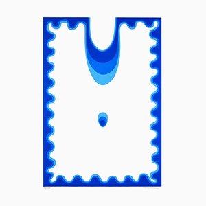 The Blue Drop - Original Screen Print by Plinio Mesciulam - 1970s 1970s