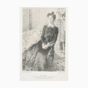 Portrait of Woman - Original Lithographie von E. Laurent - 1901 1901 ca.