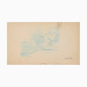 Study for Crucifix - Original Drawing by A. Willette - End of 19th Century End of 1th Century