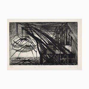 Les Pecheries - Original Radierung von Maurice Chot-Plassot - Mid 20th Century Mid 20th Century