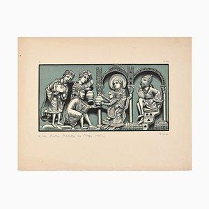 Anorage des Mages - Original Holzschnitt von I. Sage - 1926 1926