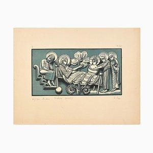 Nativité - Original Woodcut Print by I. Sage - 1927 1927