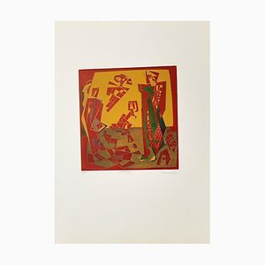 Characters - Original Etching by Adam Moussa - 1971 1973